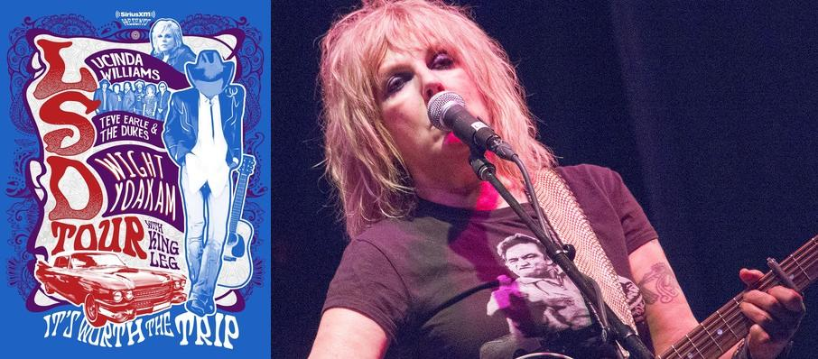 Lucinda Williams with Steve Earle and Dwight Yoakam at Pier Six Concert Pavilion
