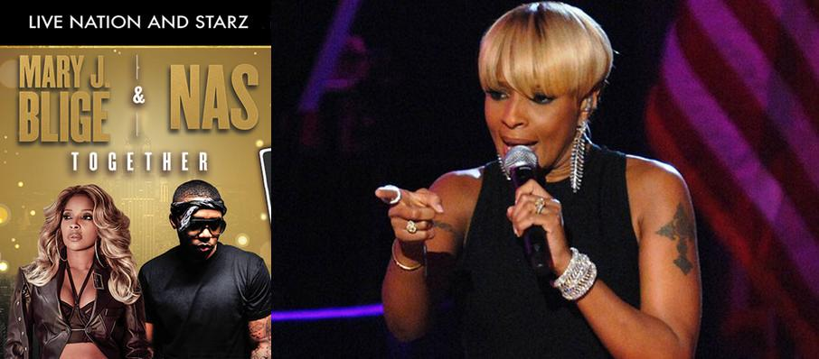Mary J Blige and Nas at Royal Farms Arena