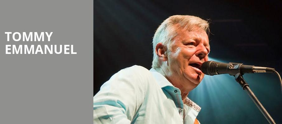 Tommy Emmanuel, Rams Head On Stage, Baltimore